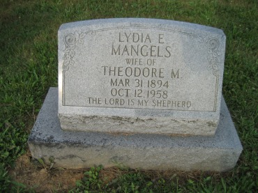 Lydia Mangels gravestone Salem Farrar MO