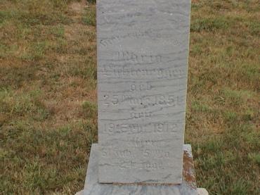 Maria LIchtenegger gravestone St. John's Pocahontas MO