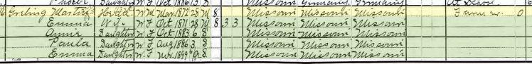 Martin Grebing 1900 census Wittenberg MO