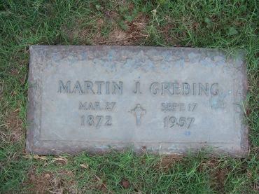 Martin Grebing gravestone Cape Memorial Cape Girardeau MO