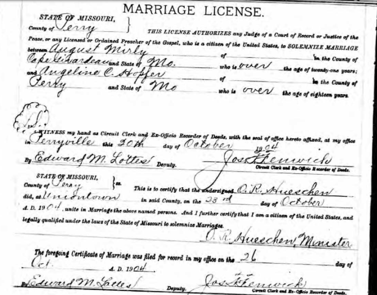 Mirly Hopfer marriage license