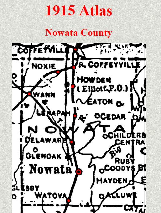 Nowata OK 1915 atlas Hickory Township