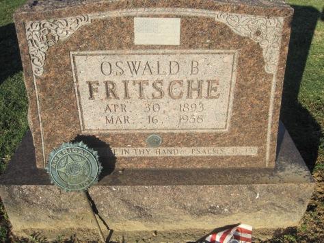 Oswald Fritche gravestone Immanuel Altenburg MO