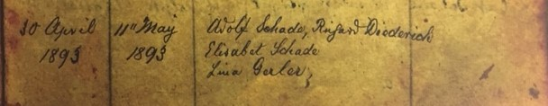 Oswald Fritsche baptism record 2 Immanuel Altenburg MO