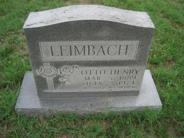 Otto Leimbach gravestone Zion Pocahontas MO