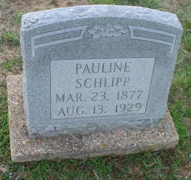 Pauline Schlipp gravestone United Methodist St. Clair MO