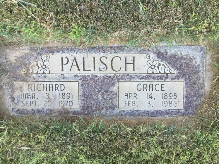 Richard and Grace Palisch gravestone Sunset Memorial Park Twin Falls ID.jpg