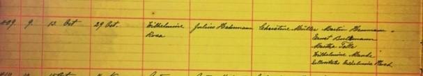 Rosa Hemmann baptism record Grace Uniontown MO