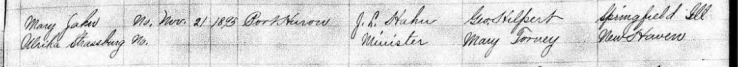 Schuessler Dunkel marriage record 2 St. Clair MI