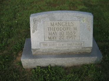 Theodore Mangels gravestone Salem Farrar MO
