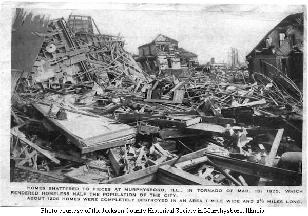 Tri-State Tornado Murphysboro damage