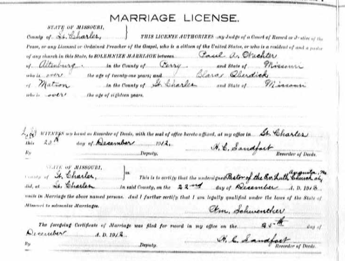 Wachter Oberdieck marriage license