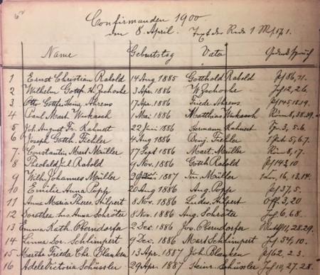1900 confirmation class - Concordia Frohna MO
