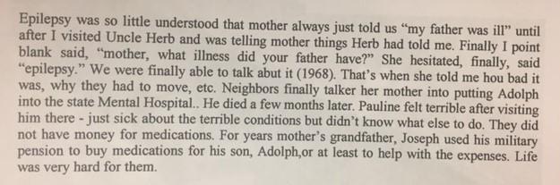 Adolph Kranawetter epilepsy explanation