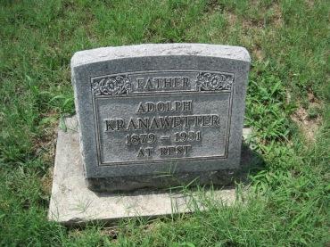 Adolph Kranawetter gravestone Zion Pocahontas MO