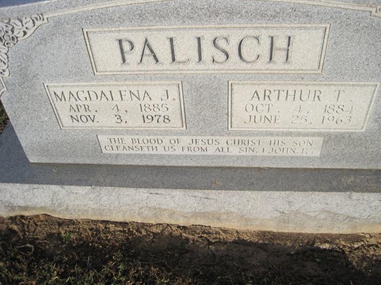 Arthur and Magdalena Palisch gravestone Immanuel Altenburg MO