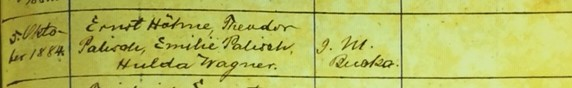 Arthur Palisch baptism record 2 Immanuel Altenburg MO