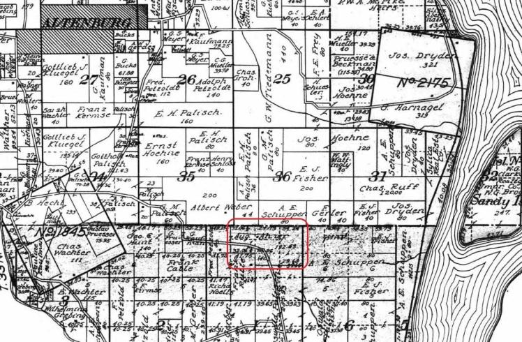 Aug. Ahner land map 1915