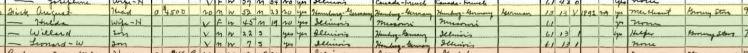 August Fick 1930 census Murphysboro IL