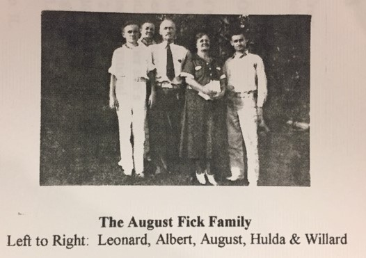 August Fick family