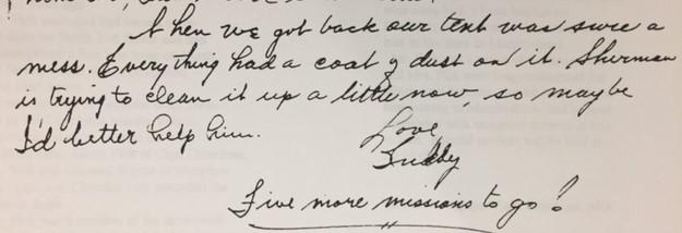 Buddy Fick last letter