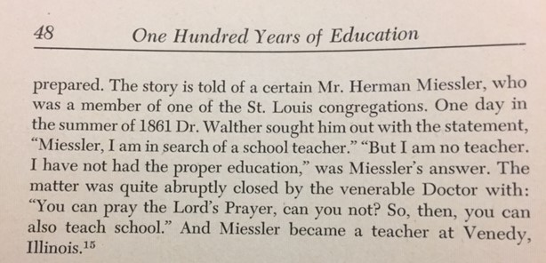 C.F.W. Walther story about Herman Miessler
