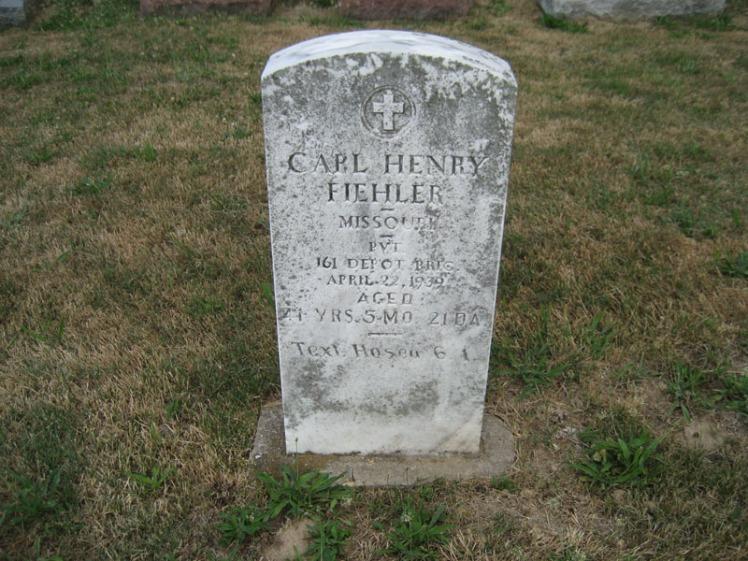 Carl Fiehler gravestone Trinity Altenburg MO