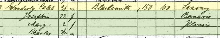 Charles Wunderlich 1860 census Shawnee Township MO