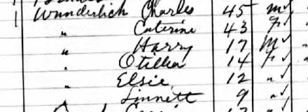 Charles Wunderlich 1905 Kansas census Sylvan Grove