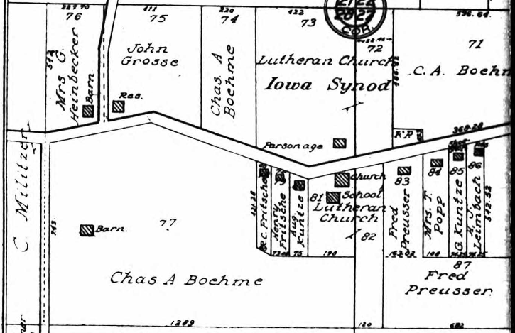 Chas. A Boehme land map 1915
