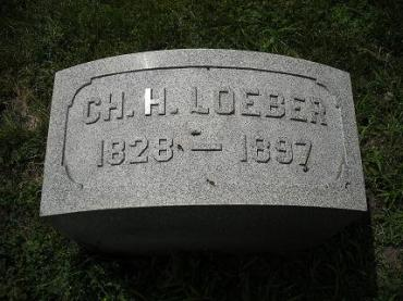 Christoph Loeber gravestone Forest Home Milwaukee WI