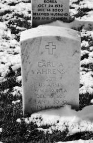 Earl Ahrens gravestone Jefferson Barracks St. Louis MO