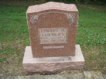 Edward Lueders gravestone Concordia Frohna MO