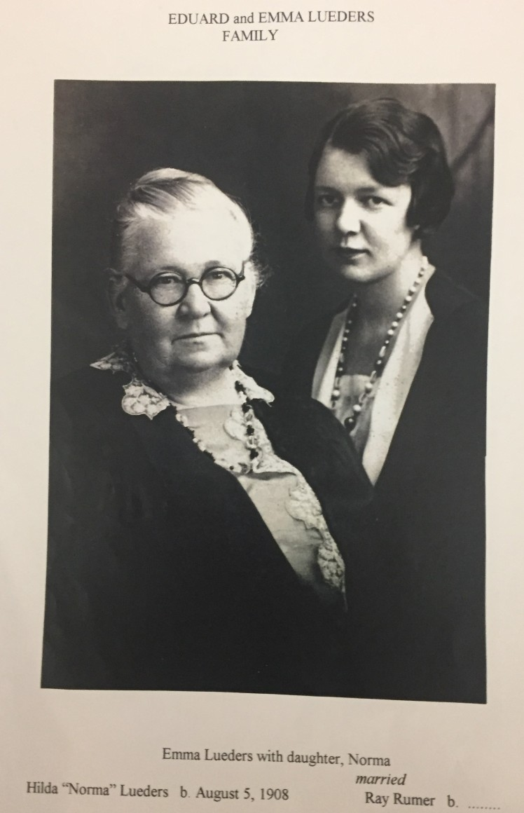 Emma and Norma Lueders