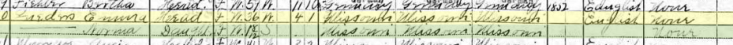 Emma Lueders 1910 census Brazeau Township MO