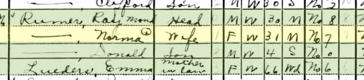 Emma Lueders 1940 census St. Louis MO