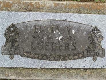 Emma Lueders gravestone Concordia Frohna MO