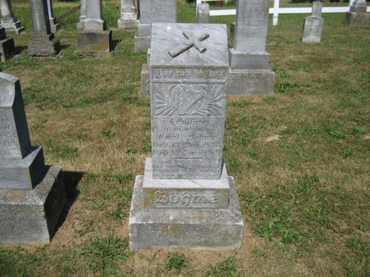 Ernestine Boehme gravestone Trinity Altenburg MO