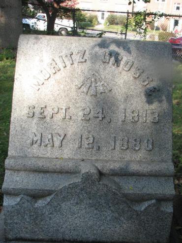 Ernst Mortiz Grosse gravestone - Immanuel St. Louis MO