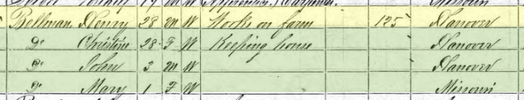 Henry Bellmann 1870 census Altenburg MO
