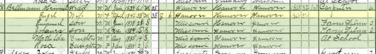 Henry Bellmann 1900 census Brazeau Township MO