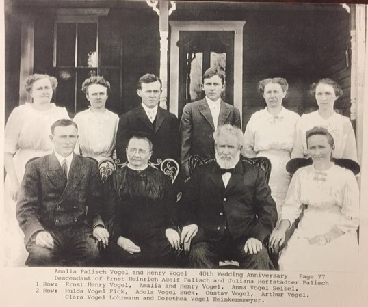 Henry Vogel family labeled