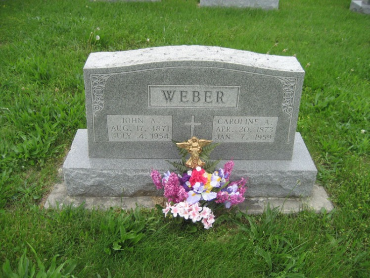John A and Caroline Weber gravestone Immanuel Perryville MO