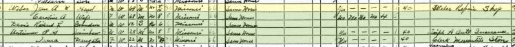 John Adolph Weber 1940 census Perryville MO