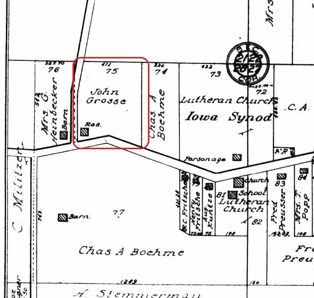 John Grosse land map 1915
