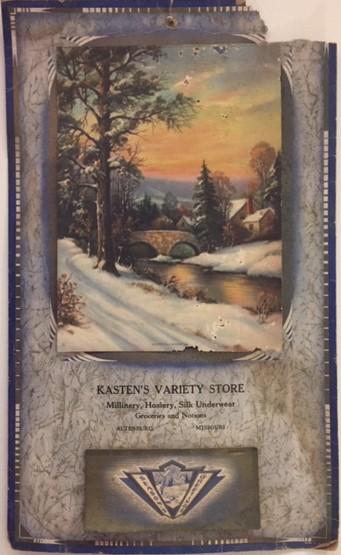 Kasten's Variety Store calendar museum
