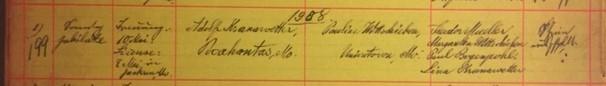 Kranawetter Wittschieben marriage record Grace Uniontown MO