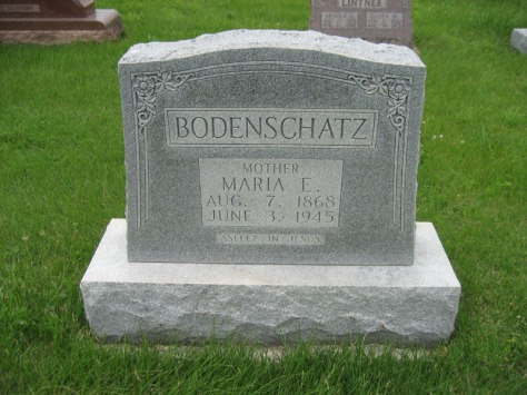 Maria Bodenschatz gravestone St. Paul's Wittenberg MO
