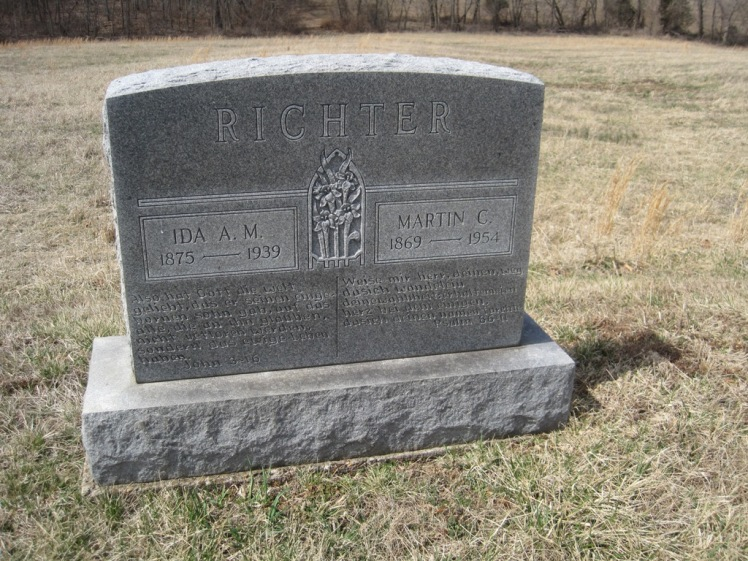 Martin and Ida Richter gravestone Immanuel New Wells MO