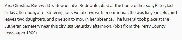 Mary Rodewald obituary
